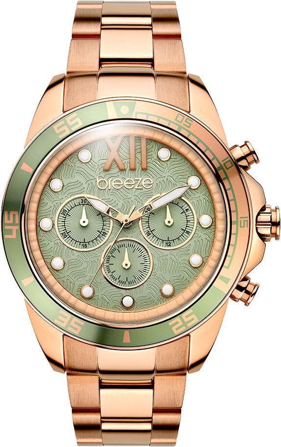 699faf28ee Breeze Starborn Chronograph 44mm Rose Gold Stainless Steel Bracelet  210591.5 -Belibasakis.gr
