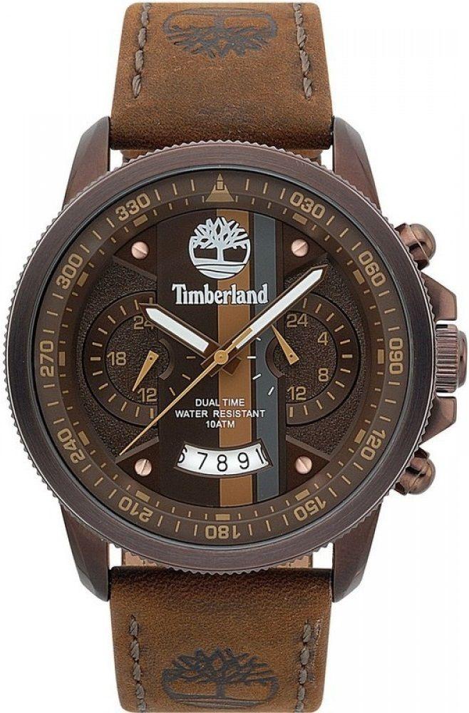 Timberland Bradshaw Dual Time Multifunction 46mm Brown